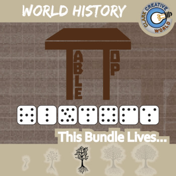 TableTop History -- WORLD HISTORY CURRICULUM BUNDLE -- 13+ Social Studies Games