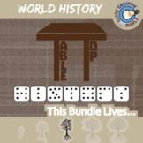 TableTop History -- WORLD HISTORY CURRICULUM BUNDLE -- 18+ Social Studies Games