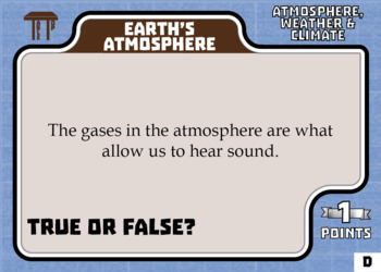 TableTop Science -- Atmosphere, Weather & Climate -- Game-Based Group Practice