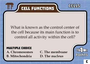 TableTop Science -- Cells -- Game-Based Group Practice