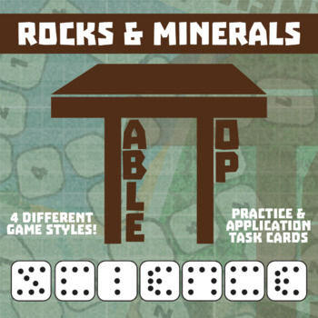 TableTop Science -- Rocks & Minerals -- Game-Based Group Practice