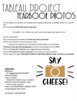 Tableau Project for high school - Yearbook Photos