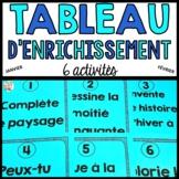 Tableau d'enrichissement  - Hiver (janvier et février)  - French early finisher