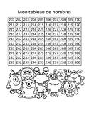Tableau de nombres - 201 à 300 - Monstres