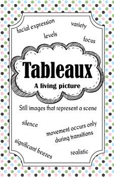 Tableaux Poster (Colour)
