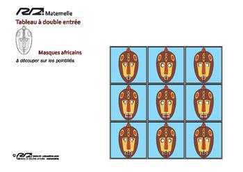 Tableaux à double entrée Masques Africains