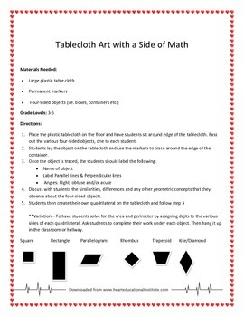 Tablecloth Art with a Side of Math