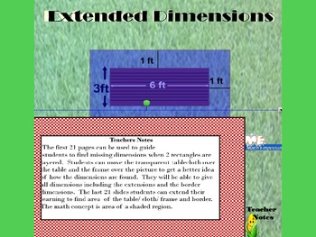 Tablecloths n Frames -Extended Dimensions Smartboard