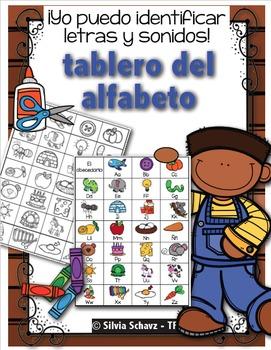 Yo puedo identificar letras y sonidos - Tablero del alfabeto