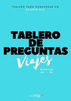 Tablero para conversar sobre viajes en clase de español