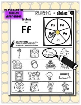 Tableros de sílabas - Ruletas de sílabas