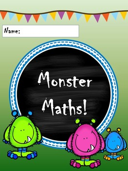 Tables Booklet Monster Maths No Prep Photocopy Friendly with Progress Graph