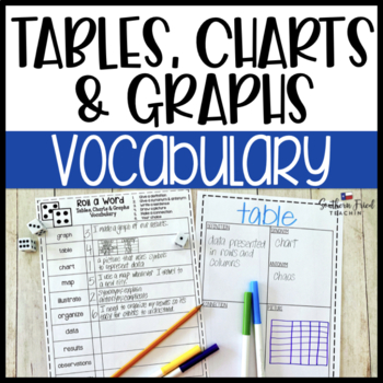 Tables, Charts, & Graphs Fun Interactive Vocabulary Dice Activity