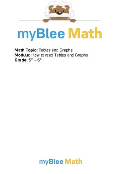 Tables & Graphs: How to Read Tables and Graphs BUNDLE - 5t