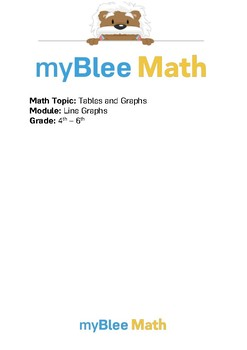 Tables & Graphs: Line Graphs BUNDLE - 4th-6th Grades