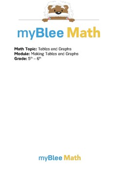 Tables & Graphs: Making Tables and Graphs BUNDLE - 5th/6th Grade