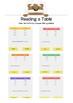 Tables & Graphs: Read a Table BUNDLE - K-3rd Grades