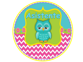 Tables Signs - Chevron and Owls Theme (Spanish)