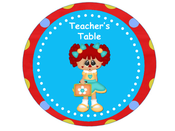 Tables Signs - Raggedy Theme