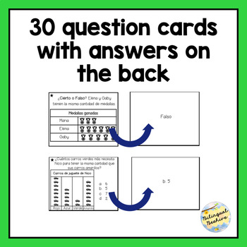 Tables and Graphs Math Game (SPANISH)/Tablas y Gráficas