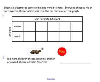 Tables and Graphs SmartBoard activity Harcourt Grade 2