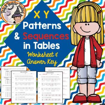 X Y Tables and Patterns Sequences One Step 1-Step Algebra Expressions Practice