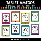 Tablet Faces Amigos Clipart