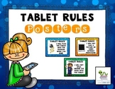 Tablet Rules Posters {Editable}