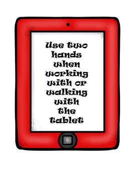 Tablet Rules Posters/Books
