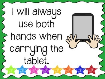 Tablet Rules Posters (Colorful and Printable!)