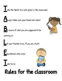 Tablet Rules for the Classroom