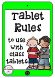 Tablet Rules - use for class sets of tablets