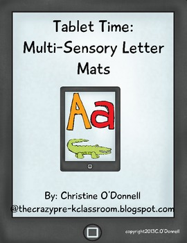 Tablet Time: Multi Sensory ABC mats