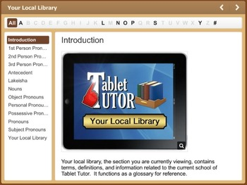 Tablet Tutor Mini Lesson:  Language Lab, Identify Pronouns