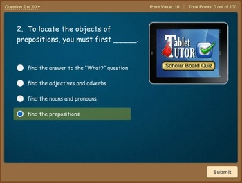 Tablet Tutor Mini Lessons:  Parts of Speech Bundle