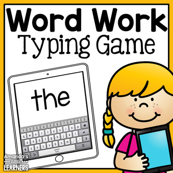 Word Work- Tablet Themed Practice - Fry First 300