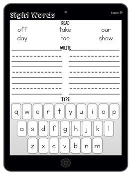 Sight Word Tablets (Journeys Kindergarten Units 1-6 Supplemental Resource)