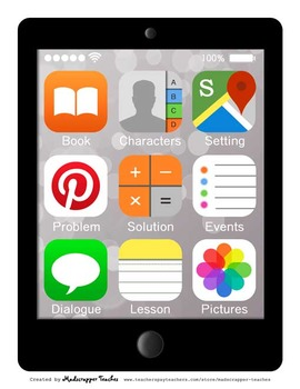 Graphic Organizers Story Elements Smartphone Tablet Printa