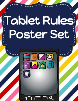 Tablet/iPad Rules Poster Set