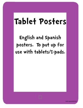 Tablet/Ipad Posters