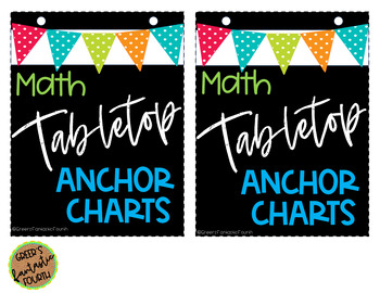 Tabletop/Interactive Notebook Anchor Charts (MATH)