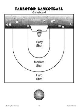 Tabletop Basketball (Math Games)