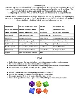 Tabletop Game (Boardgame) Project