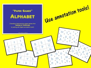Tabletop to Teletherapy's Alphabet Bundle
