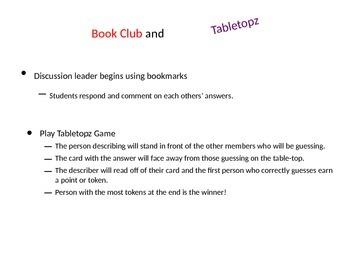 Tabletopz Book Club Game