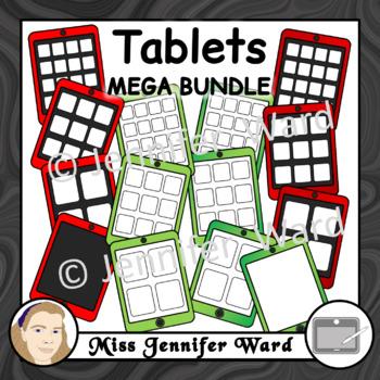 Tablets Clipart MEGA BUNDLE
