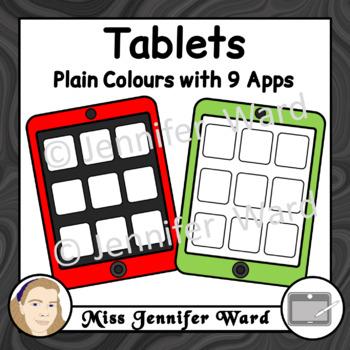 Tablets Clipart Set 1 BUNDLE