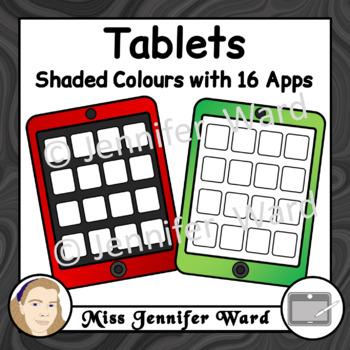 Tablets Clipart Set 2 BUNDLE
