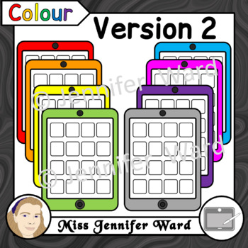 Tablets with 16 Apps Clipart Set 1