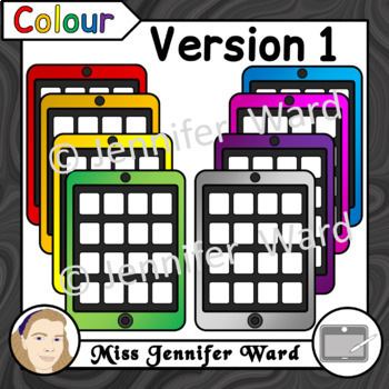 Tablets with 16 Apps Clipart Set 2